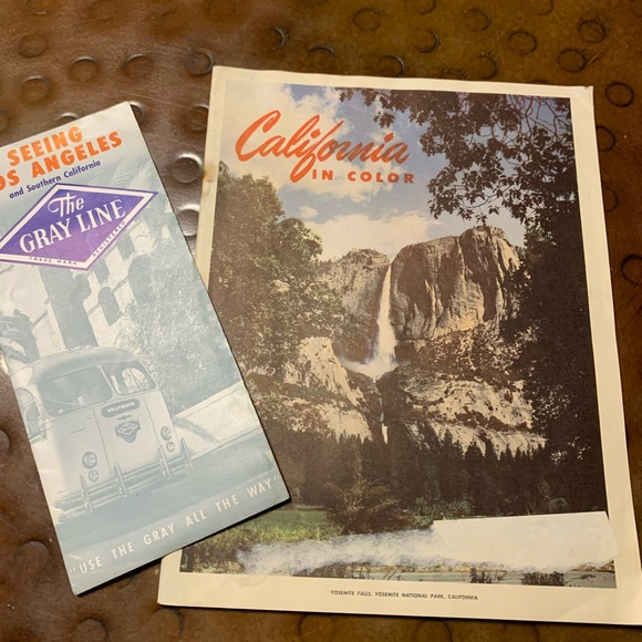 California in Color Vintage Travel brochure